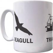 Seagull, Trawler, Sardine Ceramic Mug