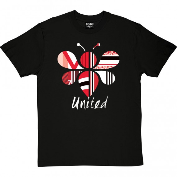 Manchester Bee Red, White and Black T-Shirt