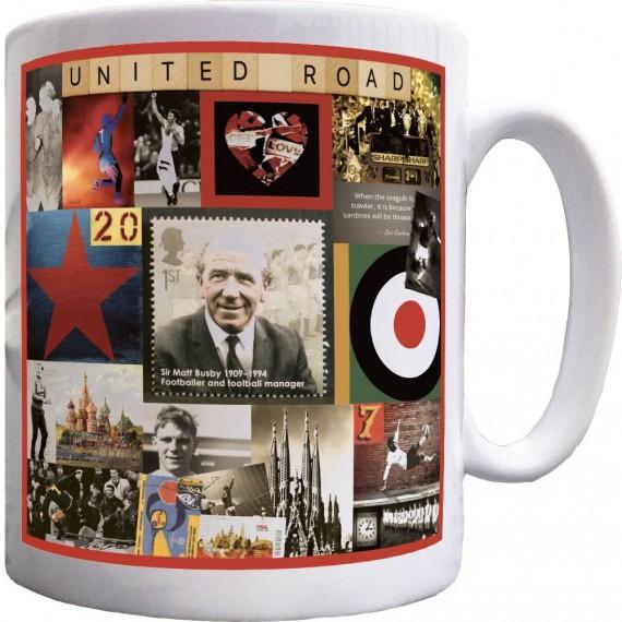 United Road Collage Ceramic Mug