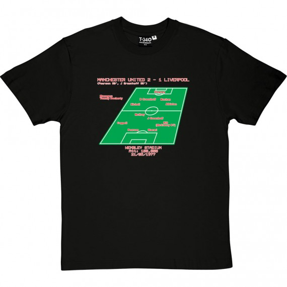 1977 FA Cup Final Line-Up T-Shirt