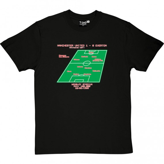 1985 FA Cup Final Line-Up T-Shirt