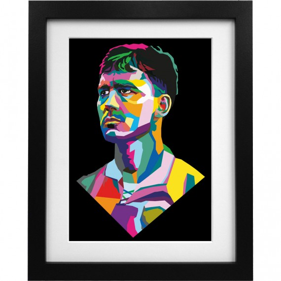 Bryan Robson Colour Block Art Print