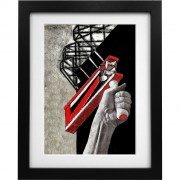 A Rattle Outside Old Trafford Art Print
