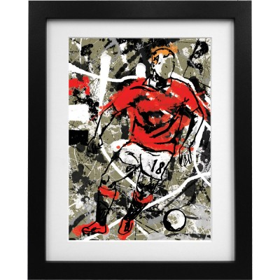 Paul Scholes Splash Art Print