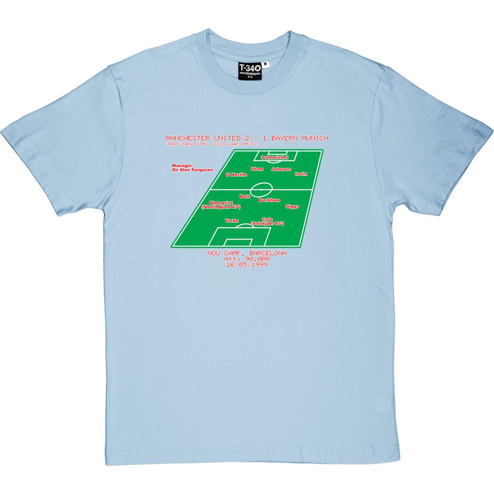 ce01685eb 1999 Champions League Final Line-Up T-Shirt