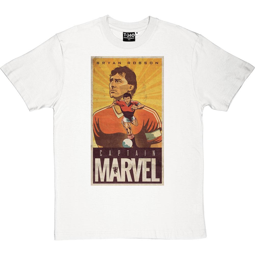 d5c87c4e6d5 Bryan Robson  Captain Marvel T-Shirt
